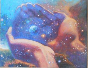 Holding Space by: www.kerstinzettmarart.com