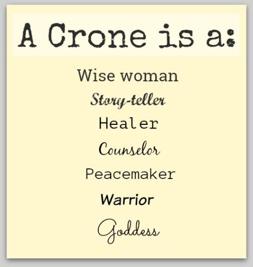 A Crone is a_